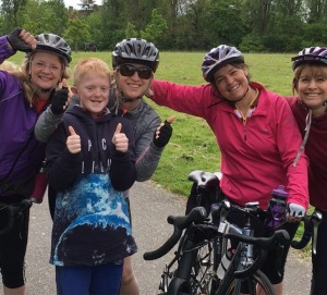 BDA's 2016 London to Paris Deaf Women Cycling Team