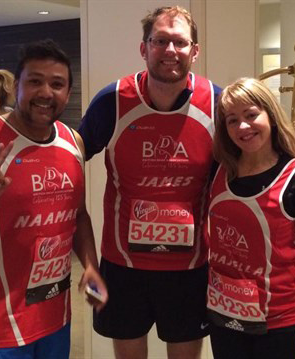 BDA's runners at the Virgin Money Marathon