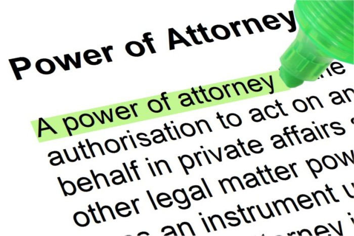 Power of Attorney Sample letter