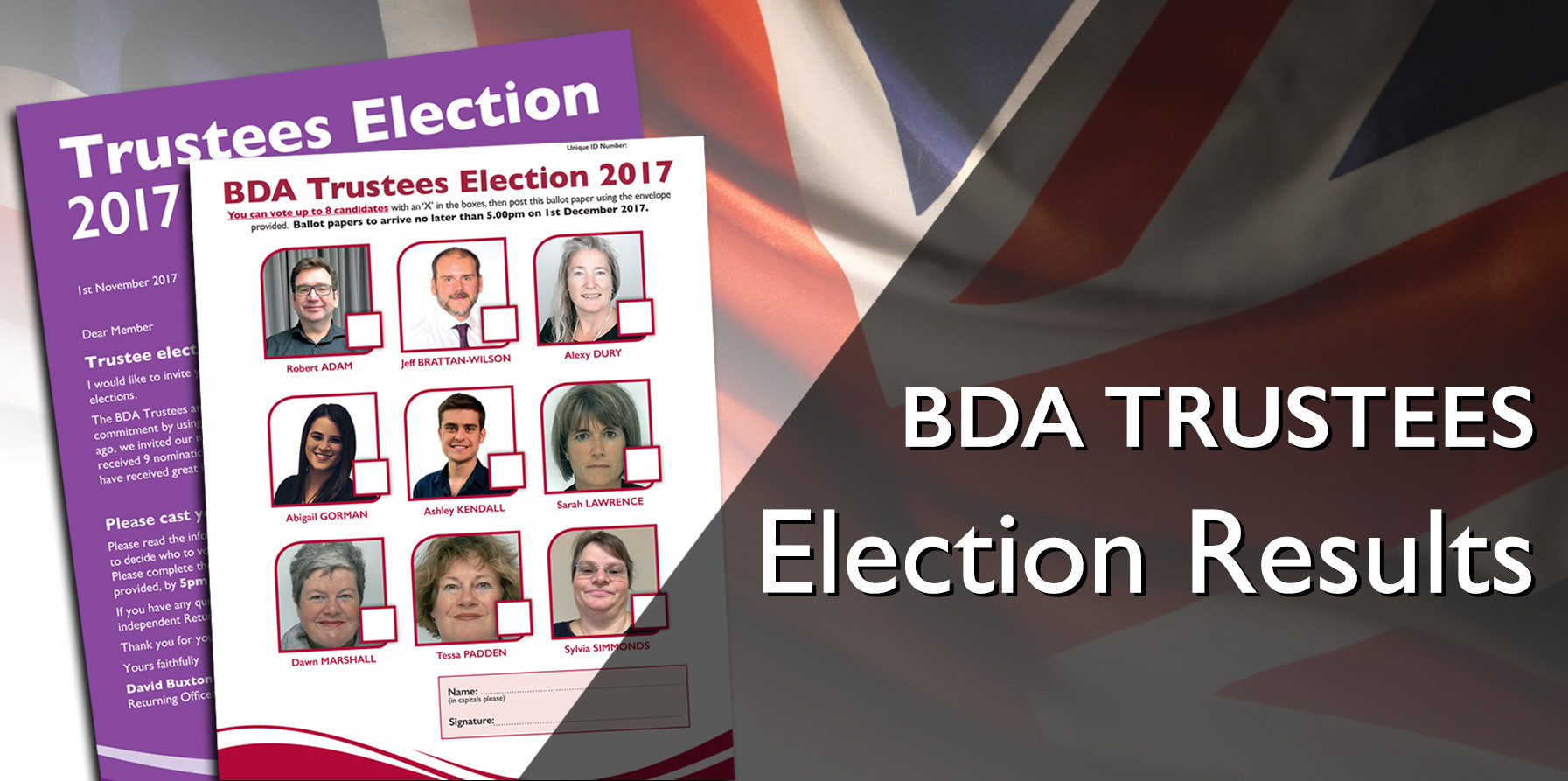 BDA Trustees Election Results
