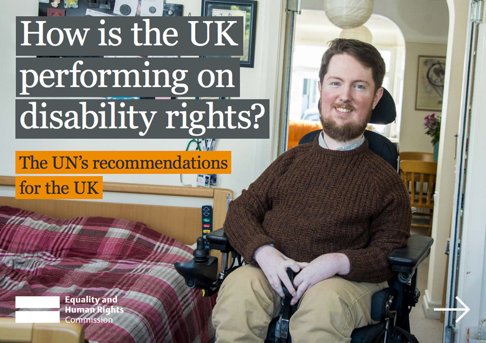 How well is the UK performing on disability rights?