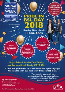 Pride in BSL Day - Poster
