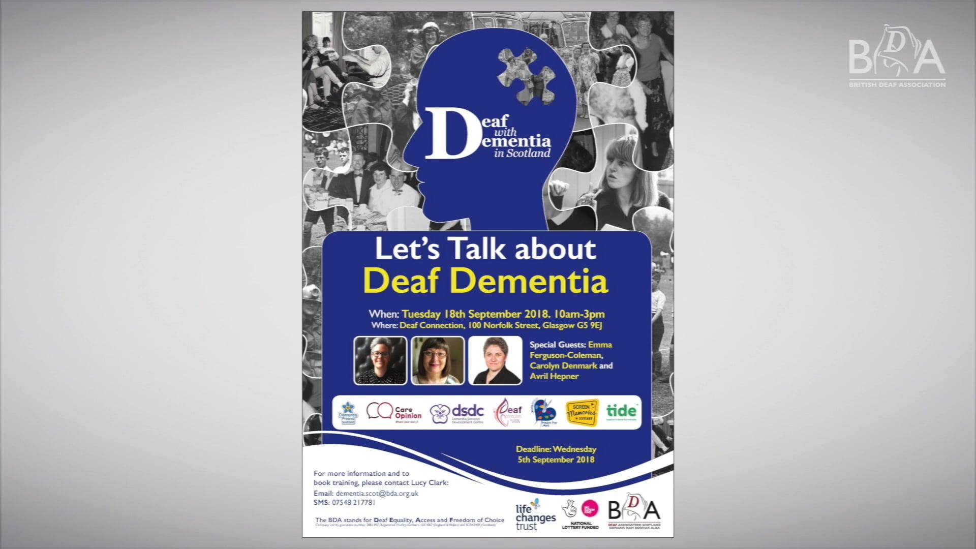 Deaf Dementia Day