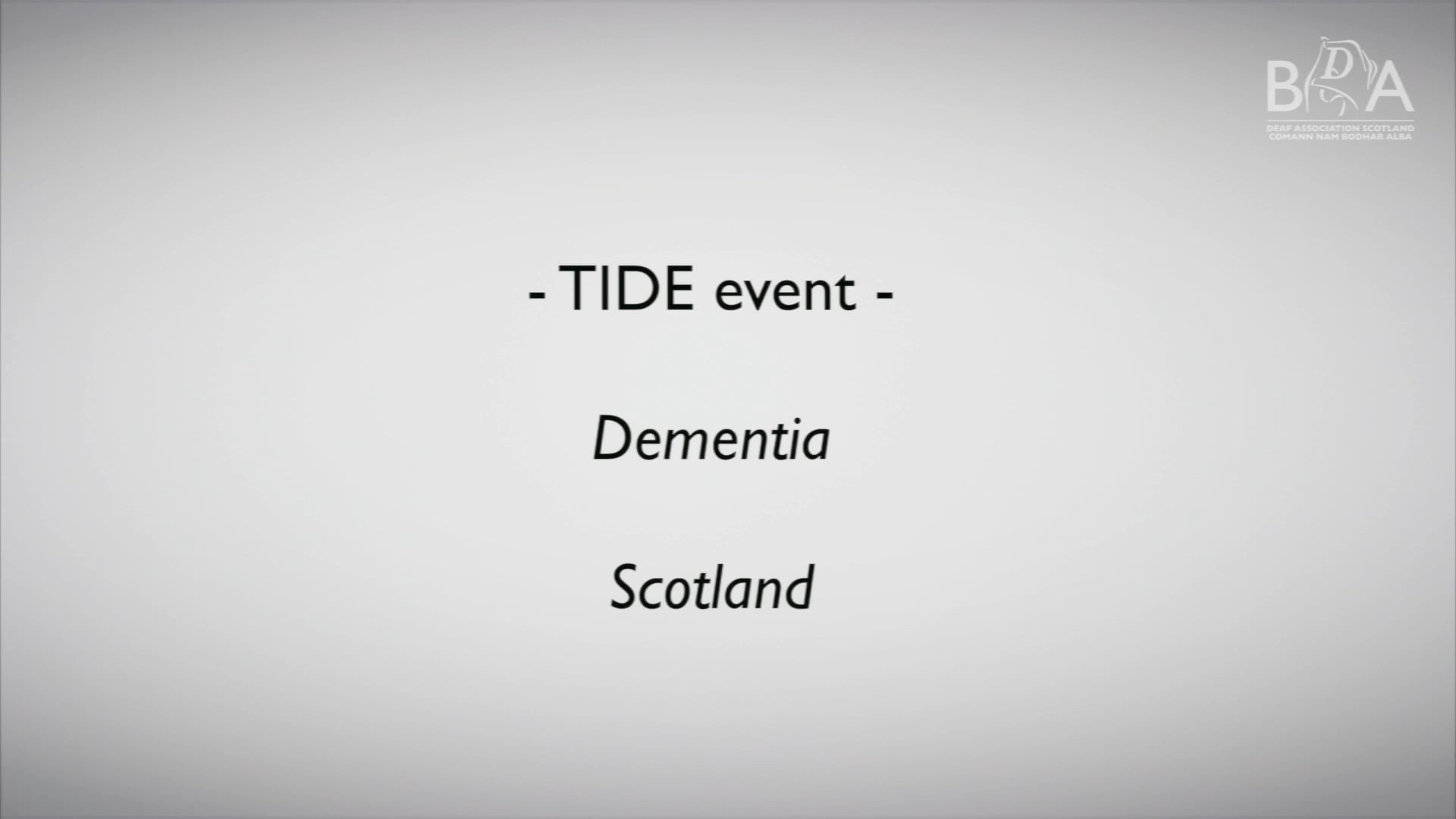 Tide Event