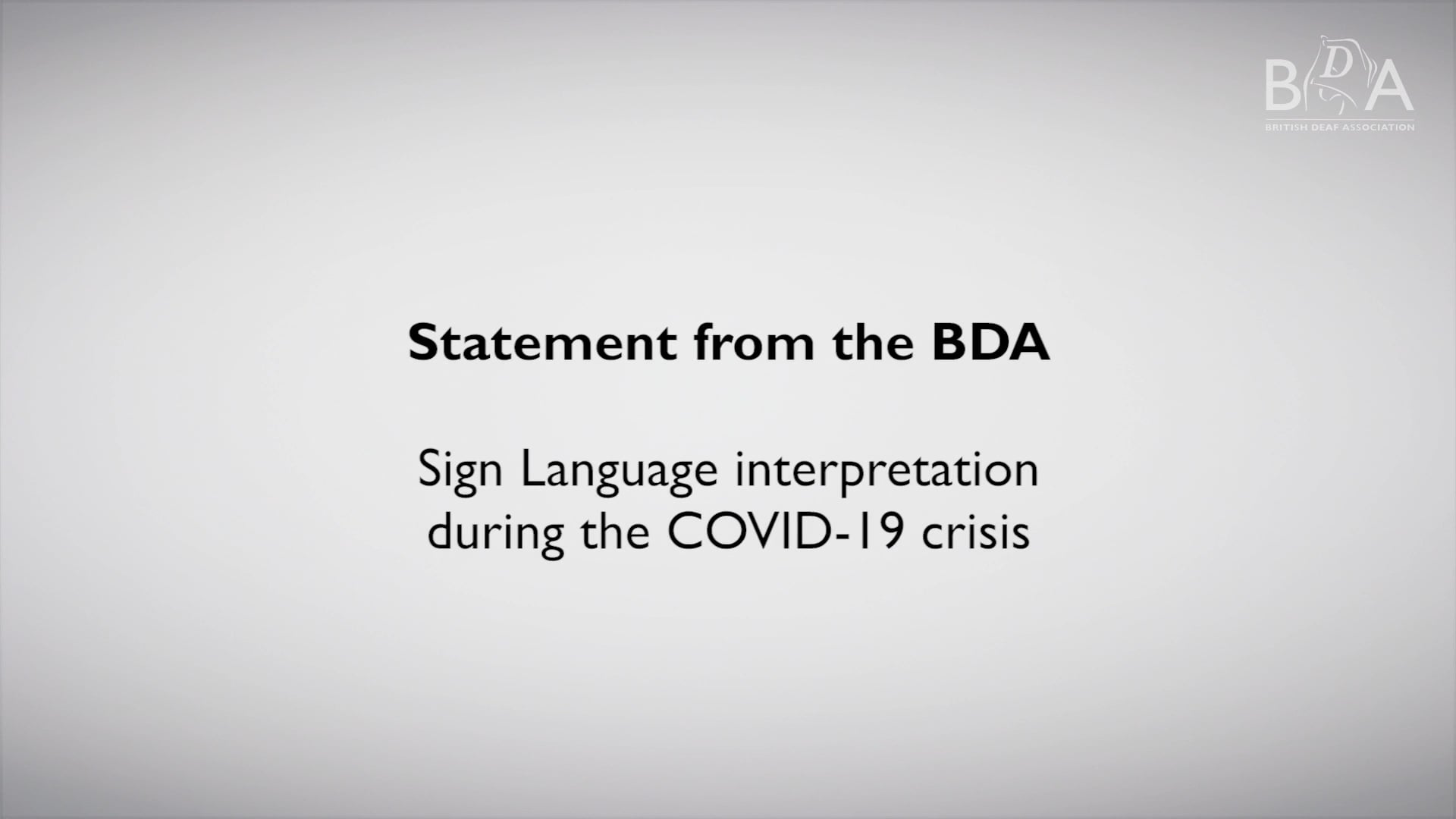 BDA Statement – SL